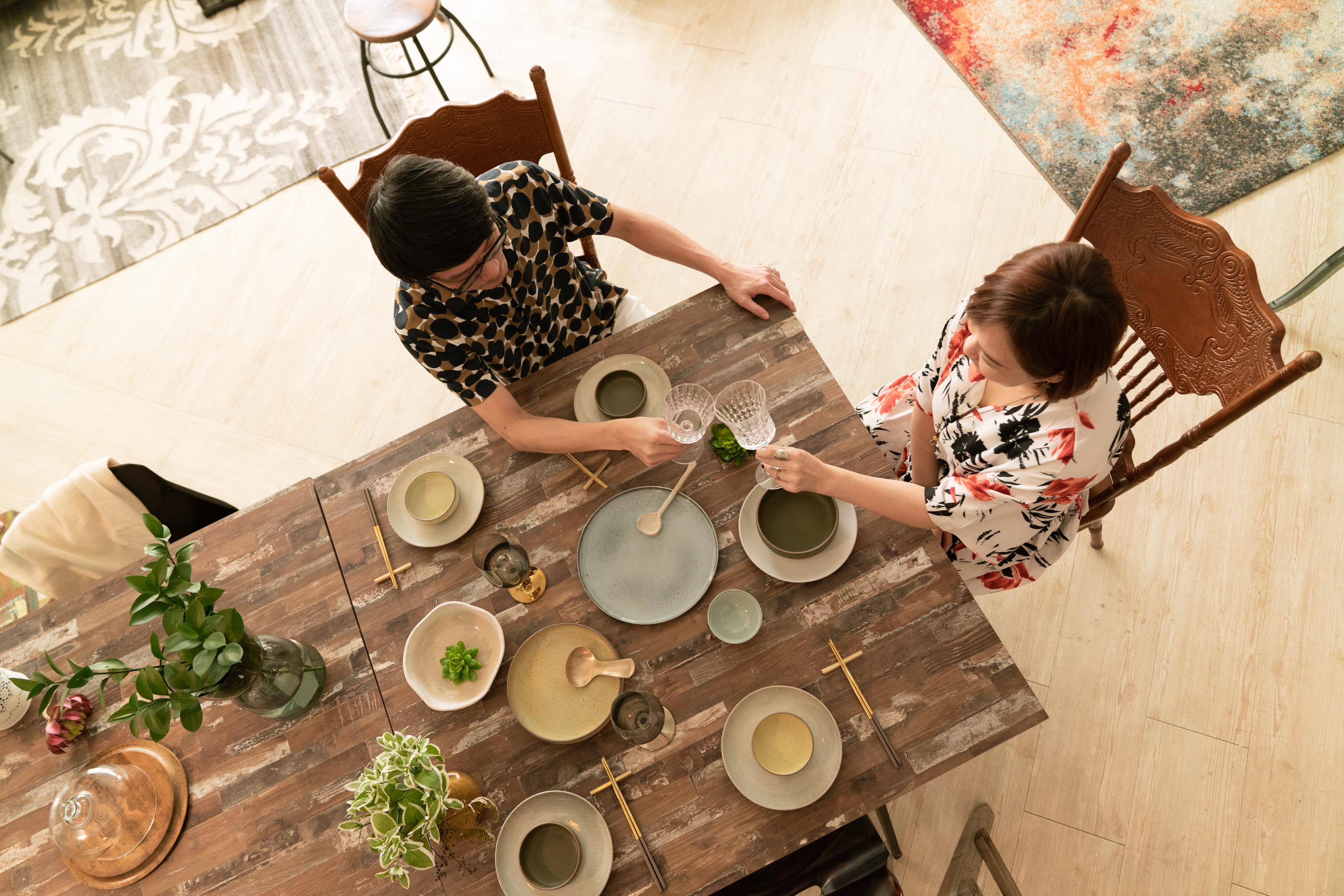 WAGA 餐桌藝術與花藝的搭配