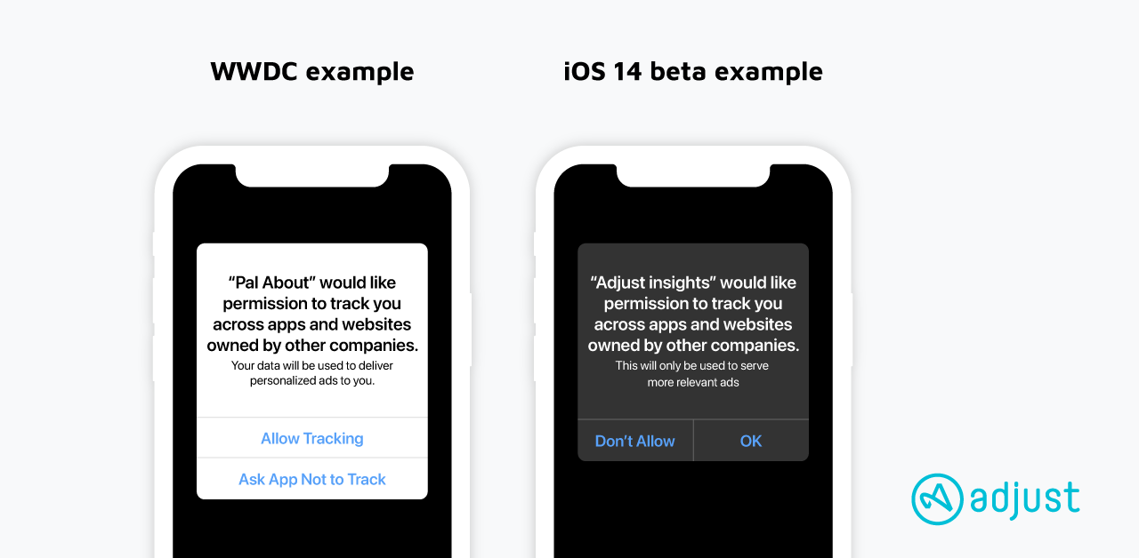 Adjust: ATT Prompt Message in WWDC and iOS 14 Beta
